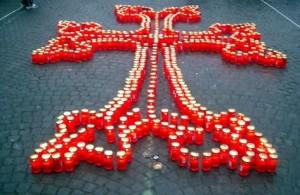 Свечи.-Армянский-крест